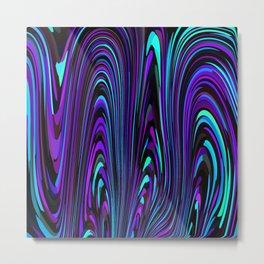 Jewel Tone Swirl Metal Print