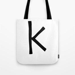 K Monogram (Hand 2) Tote Bag