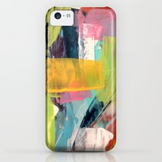 Hopeful[2] - a bright mixed media abstract piece iPhone 5c Slim Case