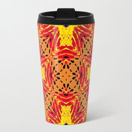 ethnic cross red Travel Mug