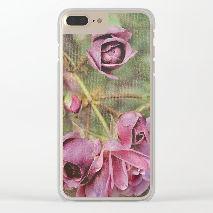 Vintage roses(8) Clear iPhone Case