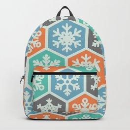 Blue Green Black Orange Nordic Christmas Season Pattern  Backpack
