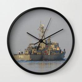 Greek Warship Wall Clock