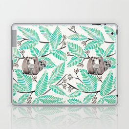 Happy Sloth – Tropical Mint Rainforest Laptop & iPad Skin