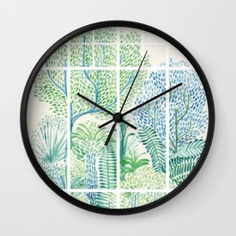 Winter in Glass Houses I Wall Clock