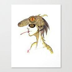 The Masquerade:  The Iguana Canvas Print