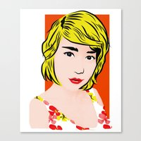 popart Canvas Prints featuring popart  by Biansa Naiyananont