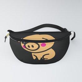 Kawaii Lucky Pig Gift Idea Motif Design Fanny Pack