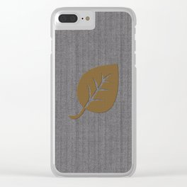 Cozy Textured Fall Leaf Clear iPhone Case
