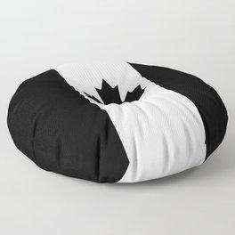 Canada: Black Military Flag Floor Pillow
