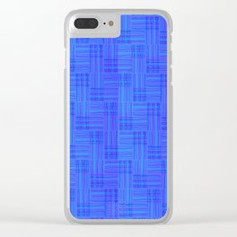 Interpretive Weaving (Nightfall) Clear iPhone Case