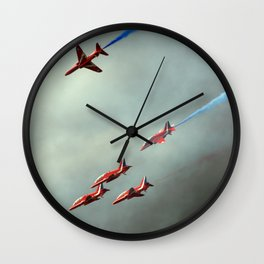 Falling arrows Wall Clock