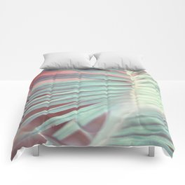 Tropical Leaf in Pink and Aqua Comforters