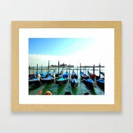 Gondolas in Venice Framed Art Print