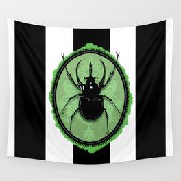 Juicy Beetle GREEN Wall Tapestry