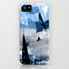 Lonely flight -Einsamer Flug iPhone Case
