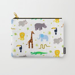 Wild african animals pattern Carry-All Pouch