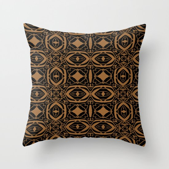 Black and Bronze 2666 Throw Pillow