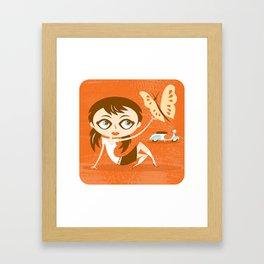 Scooter Girl Framed Art Print
