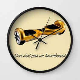 Ceci n'est pas un hoverboard Wall Clock