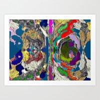 daunt Art Prints featuring Daunt by K Shayne Jacobson