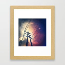 Powerlines to the Cosmos Framed Art Print