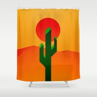 desert Shower Curtains featuring Desert by Bakus