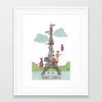 eiffel tower Framed Art Prints featuring Eiffel Tower by ShangheeShin