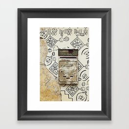 Mailbox and Mural Framed Art Print