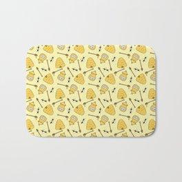 Honeybee and Beehive Pattern Bath Mat