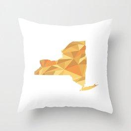 New York Pattern Map Art Throw Pillow