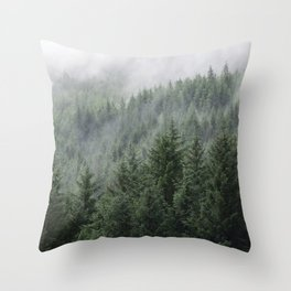 Fog Forest Throw Pillow