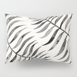 Black Palm Leaf Pillow Sham