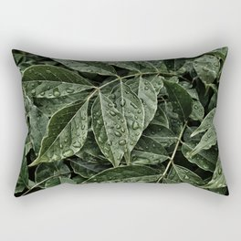 dewdrops on leaves #society6 #decor #buyart Rectangular Pillow
