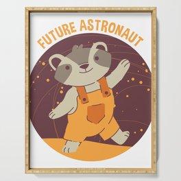 Future Astronaut Raccoon Serving Tray