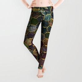 honeycomb mermaid scales Leggings