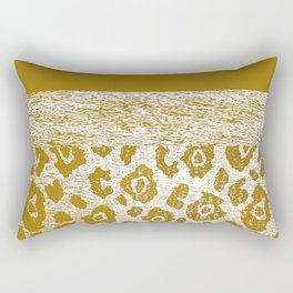 Animal Print Golden Cream Pattern Rectangular Pillow