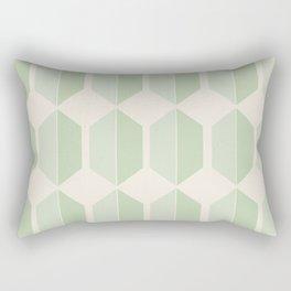Hexagonal Pattern VI Soft Green Rectangular Pillow