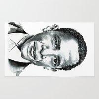 obama Area & Throw Rugs featuring Obama by Bridget Davidson