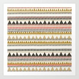 Mountain triangle pattern Art Print