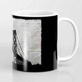 News Feed , Newspaper Bridge Collage Coffee Mug