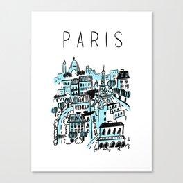 Paris Blue Canvas Print