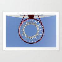 basketball Art Prints featuring Basketball by www.sfbild.se