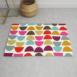 Geometric in Bright Fall Colors Rug