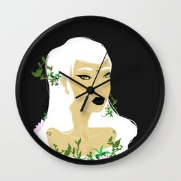Girl Swamp Wall Clock