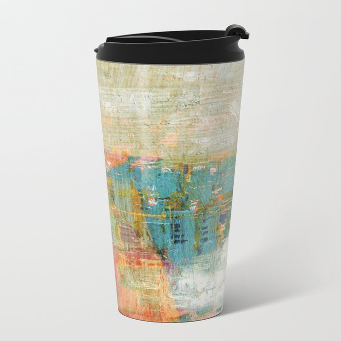 City By The Lake Metal Travel Mug