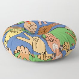 Save the Planet Earth Day Floor Pillow