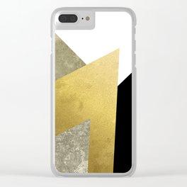 Modern Geometric 4 Clear iPhone Case
