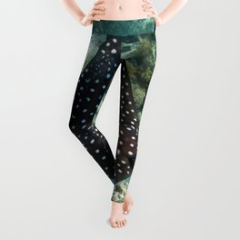 Watercolor Ray, Spotted Eagle Ray 17, St John, USVI Leggings