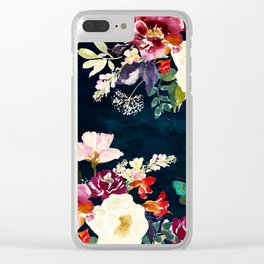 Summer Nights (Blue Passion) Clear iPhone Case